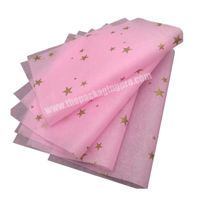 Manufacturer Luxury custom printed colour garment wrapping tissue paper with gold logo  for gift wrapping