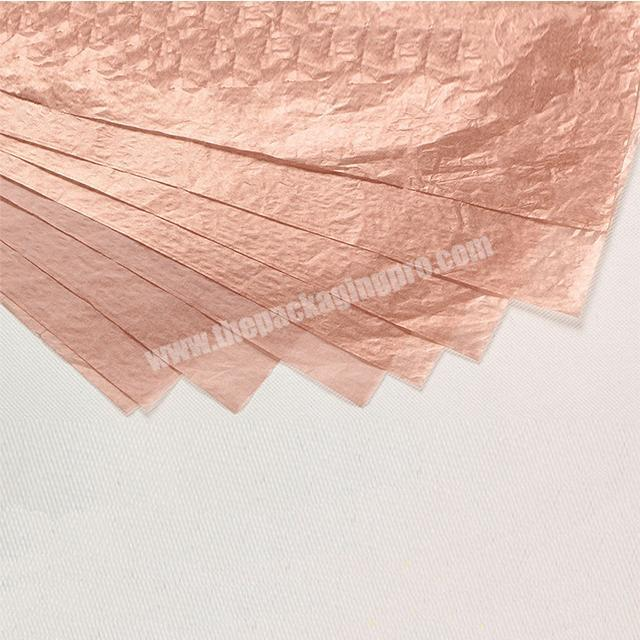 Shop 17g tissue wrapping paper metal color series rose gold pure gold 50 x 70cm silver paper