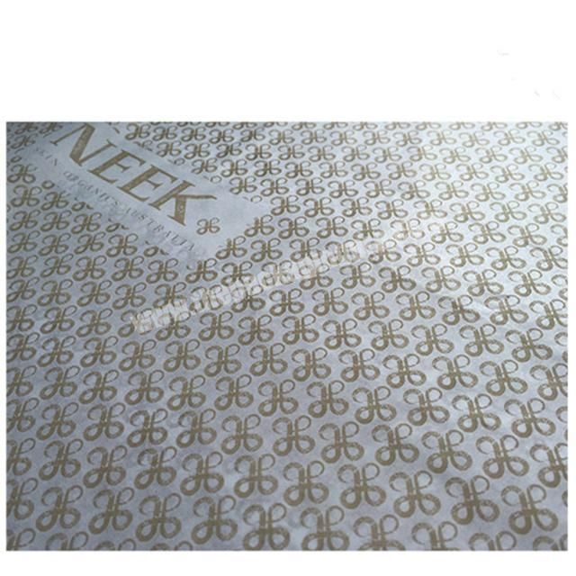Wholesale HXM Custom Brand Printing Black Wrapping Tissue Paper with Logo