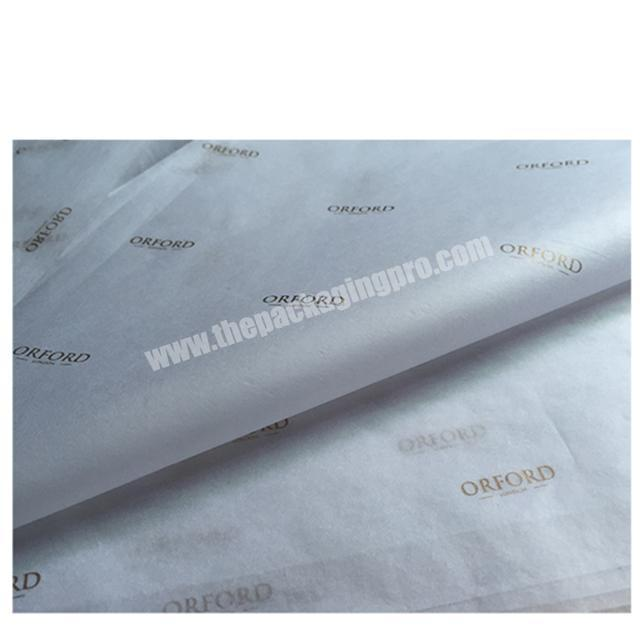 Supplier 17gsm 22gsm silk paper custom color printing tissue wrapping paper for apparel packaging