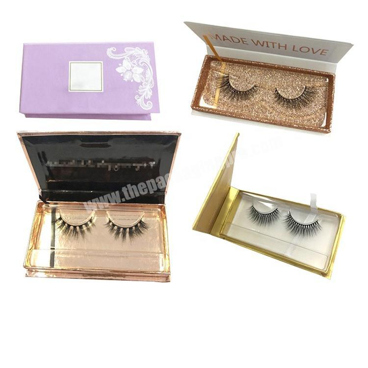 Low price luxury personalized custom private label pink mink magnetic gift product false lash box paper eyelash packaging box
