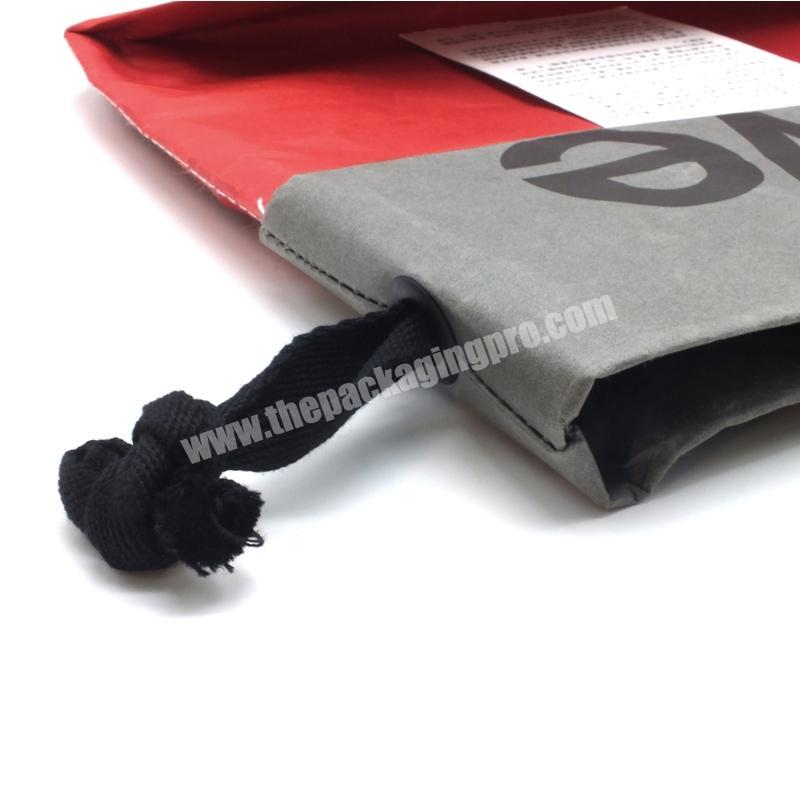 Factory Popular new custom red gift packaging gift bags with logo print simple paper bags with handles for gift