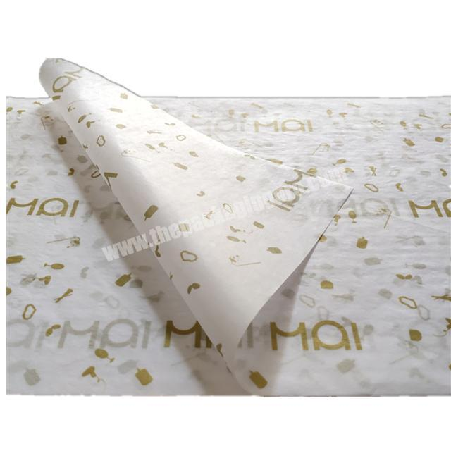 Cheap China Manufacturer gold logo  white tissue paper wrapping for clothesgift
