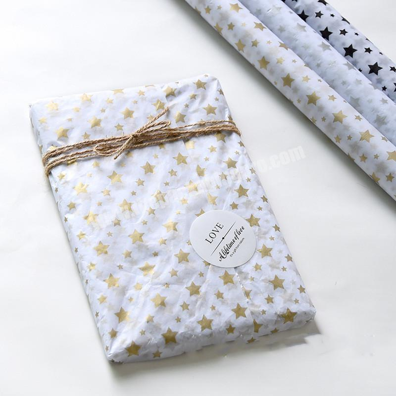 Supplier Fashionable Custom Printed Colour Wrapping Tissue Paper For packaging clothes Gift  With Your Brand Logo