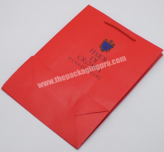 Wholesale China manufacturer Gift bag with hand tag Gift bag with printing