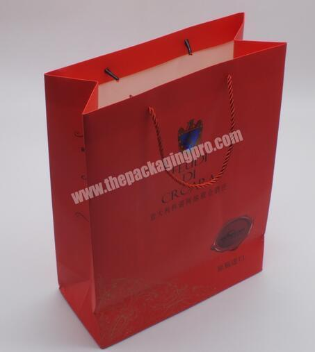 Supplier China manufacturer Gift bag with hand tag Gift bag with printing