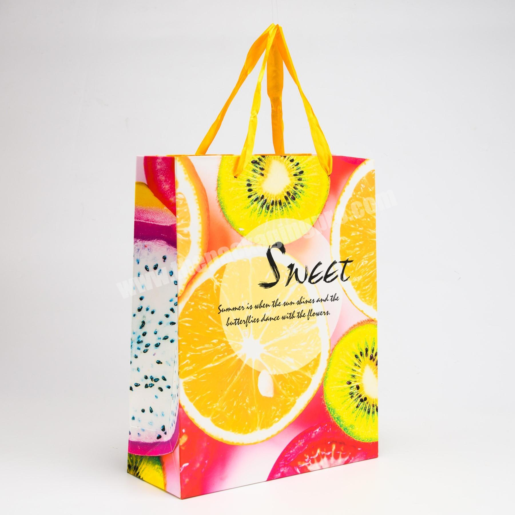 Manufacturer luxury jean packaging paper bag with handle