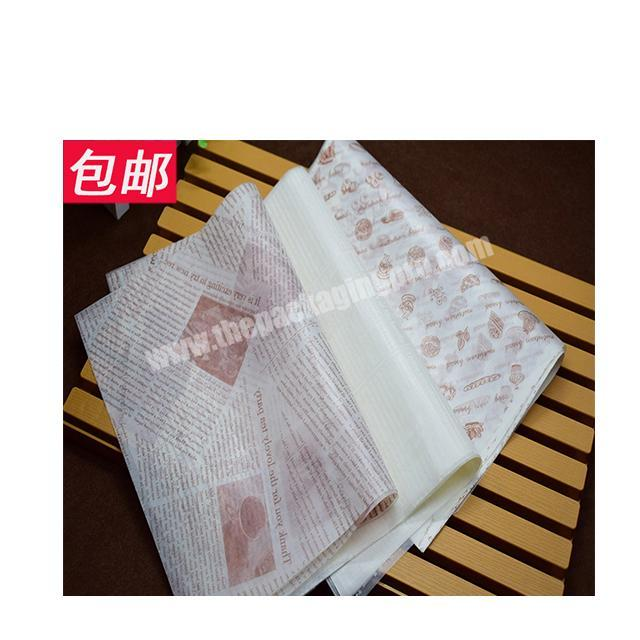 Manufacturer Factory wholesale food packaging paper fast food wrapping paper wax paper for hamburger fried chicken