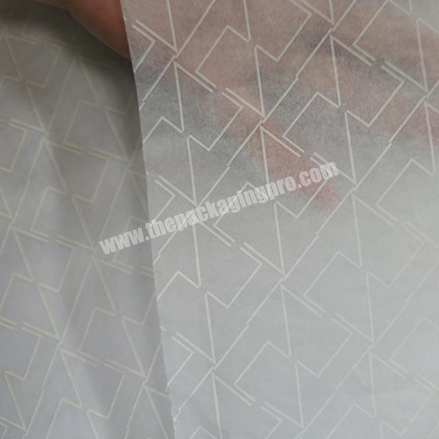 Factory Popular Fancy white silk paper Clothes Wrapping Tissue paper with silver logo
