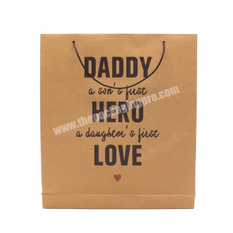Custom Packaging Cheap Bag Gift Custom Printed Brown Kraft Paper Carrier Fashion Shopping Beach Bags