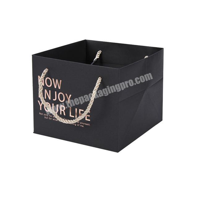 Factory Wholesale TOP Quality OEM Custom Pink Matte Paper Present Bag Eco-Friendly Bags With Ropes Handles