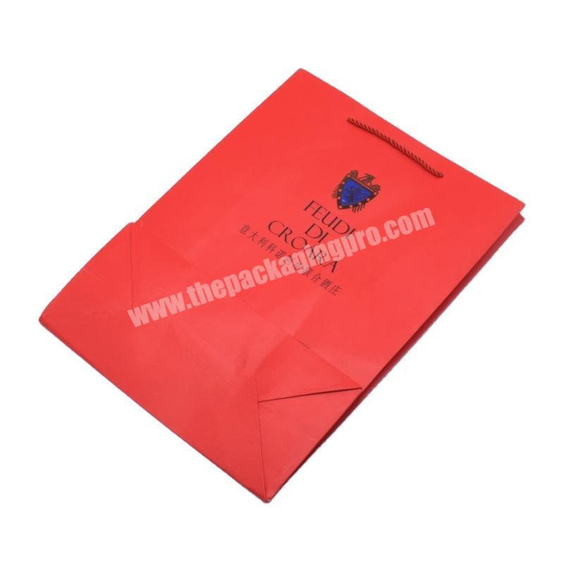Manufacturer Handmade decorative standard custom shopping paper cloth and wine packaging bag for gift