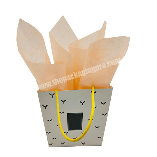 Supplier Fashionable custom printed orange plain tissue wrapping paper custom packaging clothes