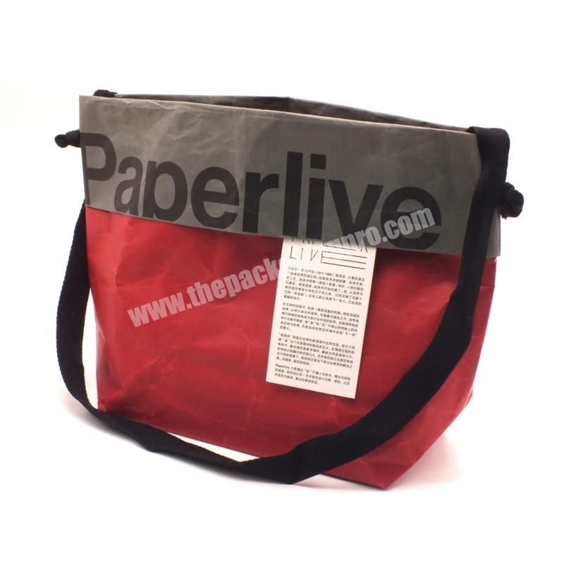 Wholesale Popular new custom red gift packaging gift bags with logo print simple paper bags with handles for gift