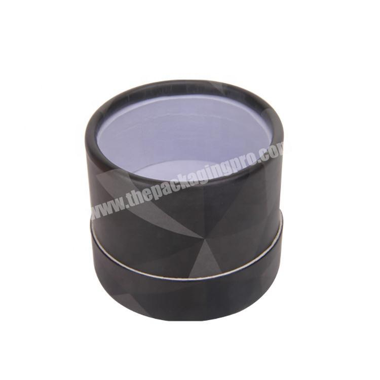 Wholesale Recycled Perfume Cardboard Packaging Black Round Gift Box