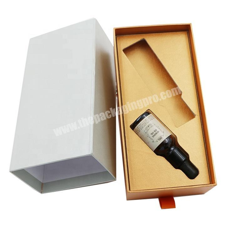 High Grade Cosmetic Perfume Bottle Paper Packaging Gift Box Set With Foam Insert