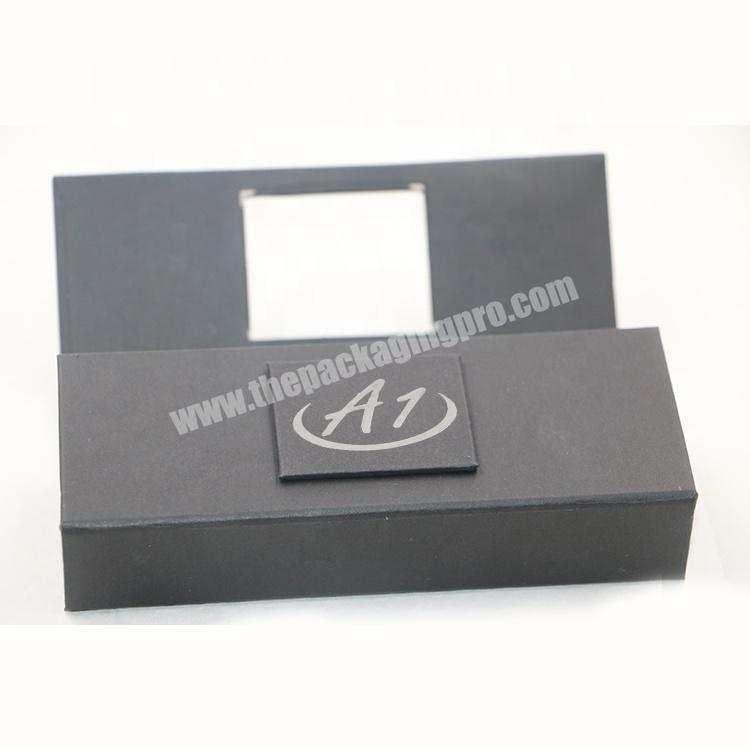 Cheaper custom logo private label black gift paper cosmetic lipstick lipgloss packaging box