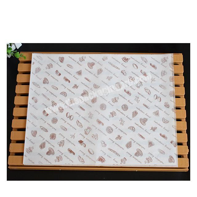 Shop Factory wholesale food packaging paper fast food wrapping paper wax paper for hamburger fried chicken