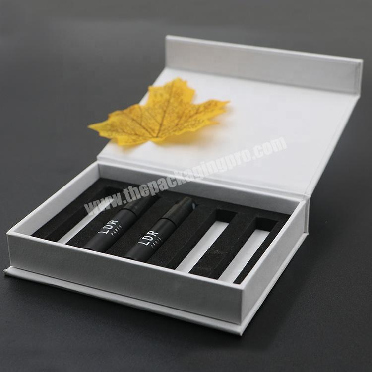 Supplier Biodegradable custom logo Arabic perfume cosmetic gift box packing with magnet