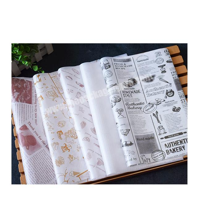 Factory Factory wholesale food packaging paper fast food wrapping paper wax paper for hamburger fried chicken
