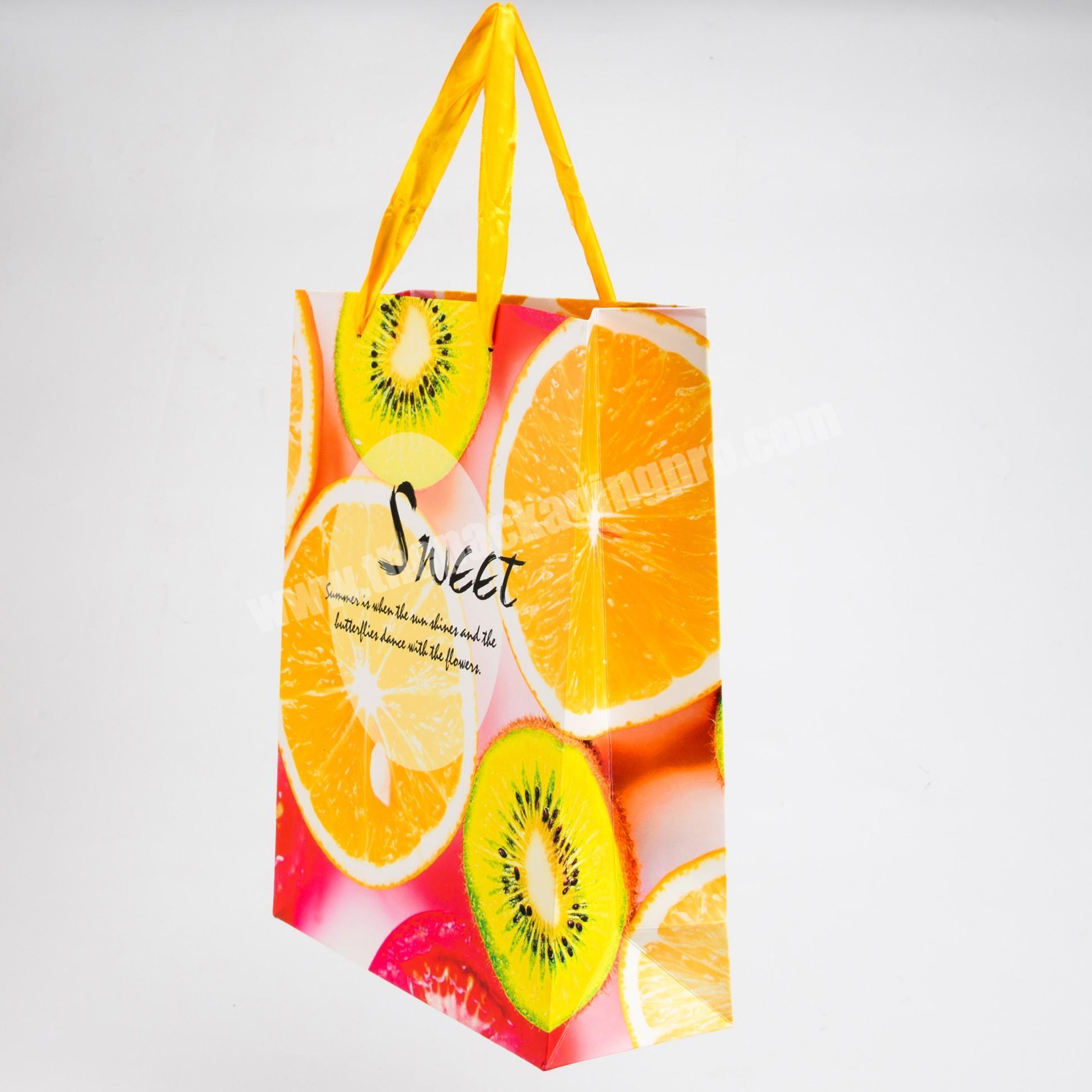 Custom luxury jean packaging paper bag with handle