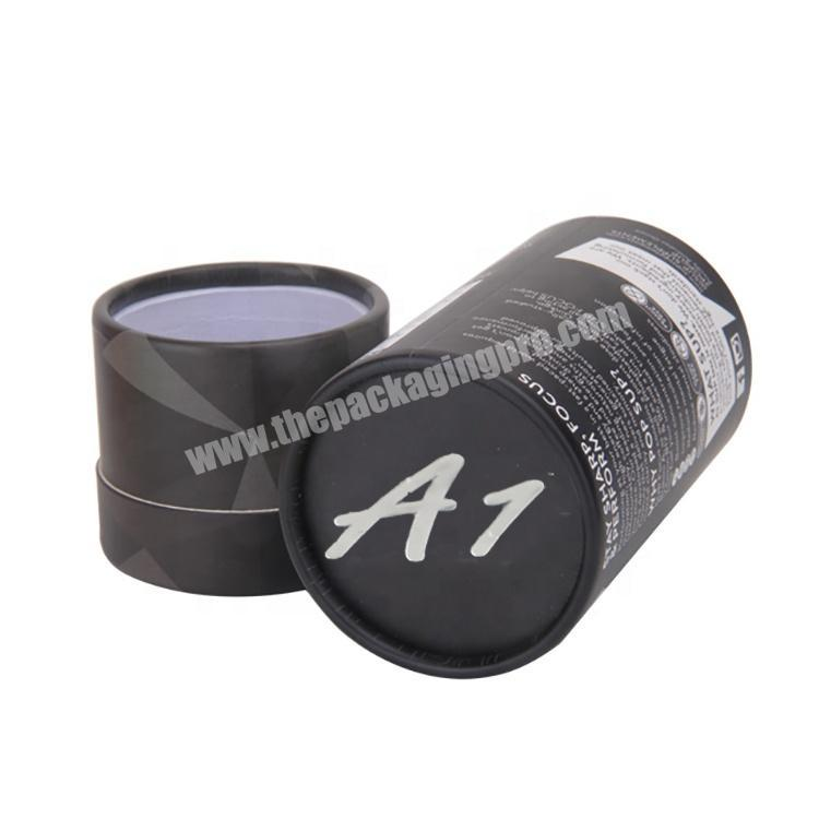 Manufacturer Recycled Perfume Cardboard Packaging Black Round Gift Box