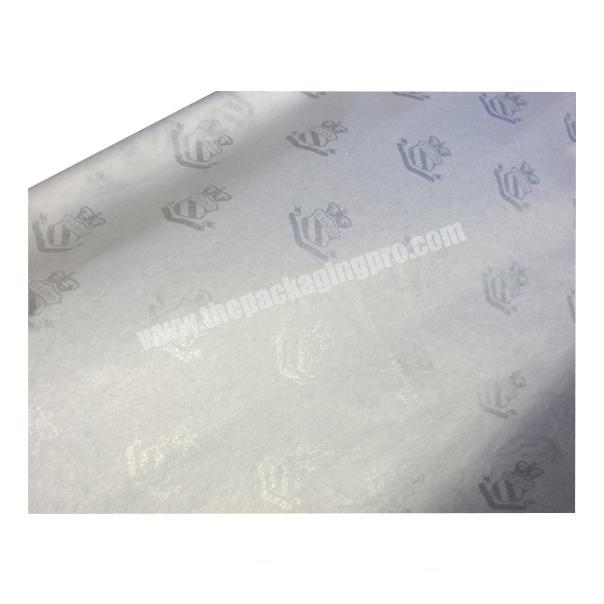 Popular Fancy white silk paper Clothes Wrapping Tissue paper with silver logo