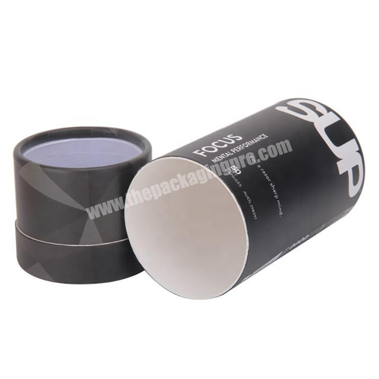 Factory Recycled Perfume Cardboard Packaging Black Round Gift Box