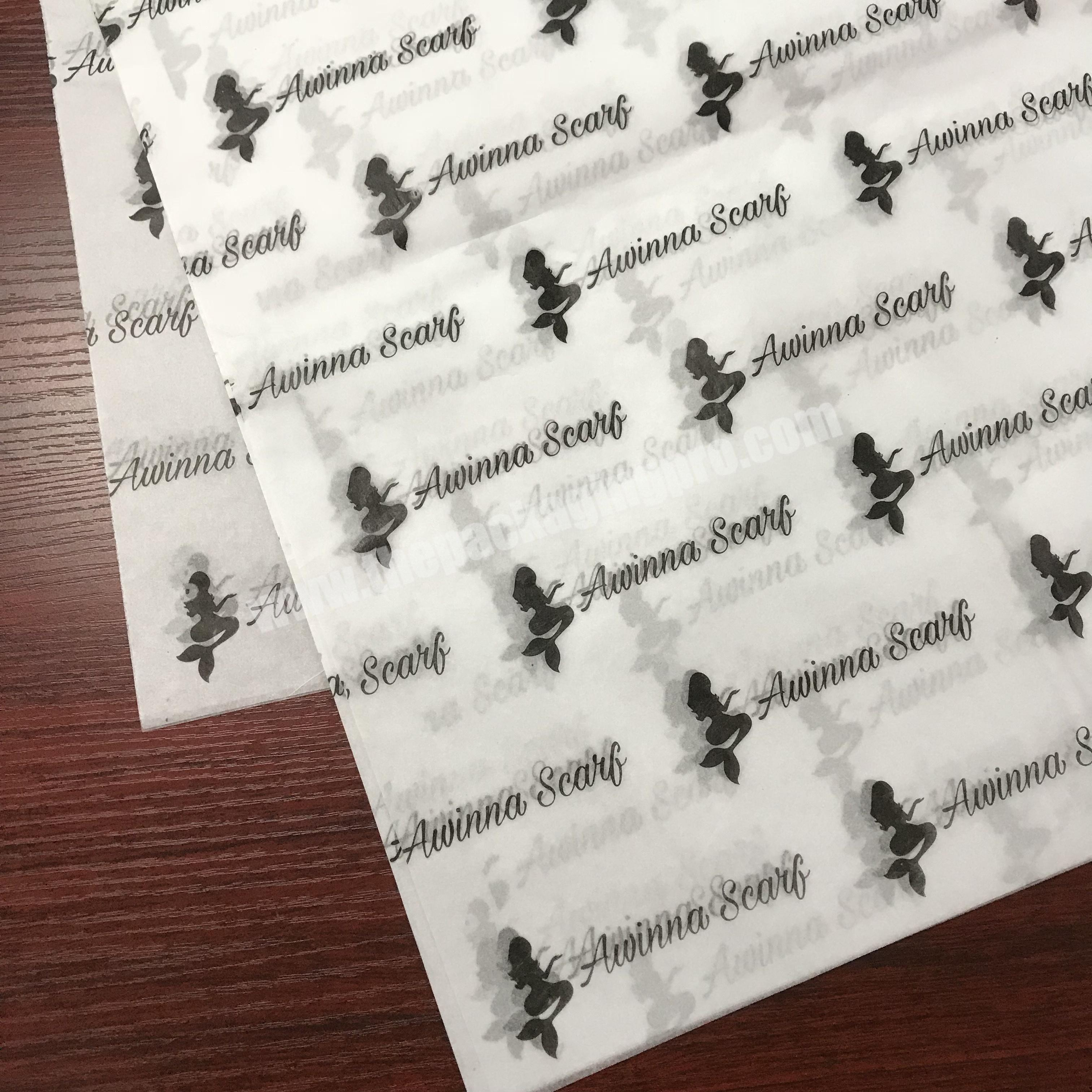 Manufacturer Custom gold logo printing 17g black gift tissue paper wrapping for hair extension and wig packaging