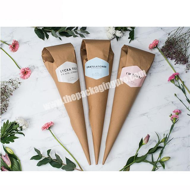 Wholesale Christmas custom printed rolling flower brown kraft sheets packaging wrapping papers