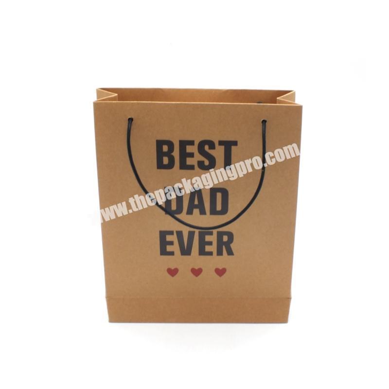 Supplier Packaging Cheap Bag Gift Custom Printed Brown Kraft Paper Carrier Fashion Shopping Beach Bags