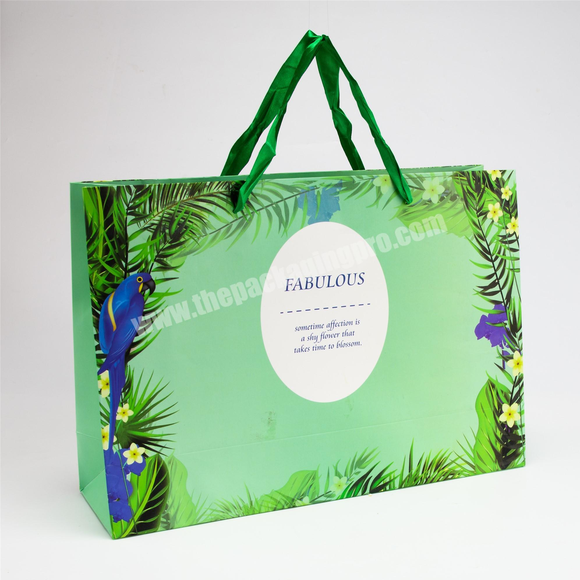 Factory luxury jean packaging paper bag with handle