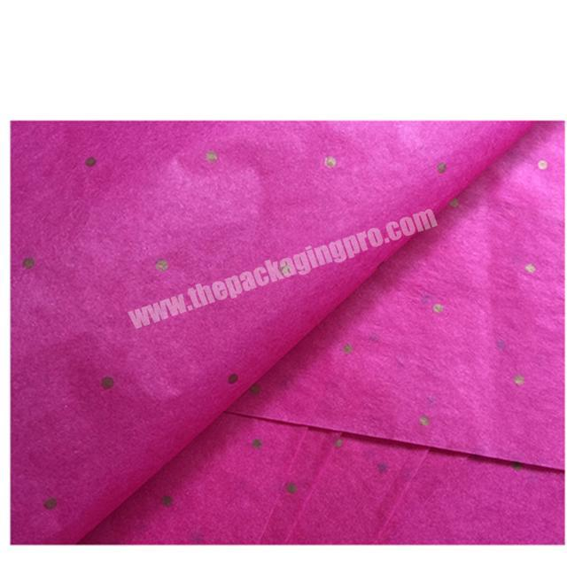 Factory HXM Custom Brand Printing Black Wrapping Tissue Paper with Logo