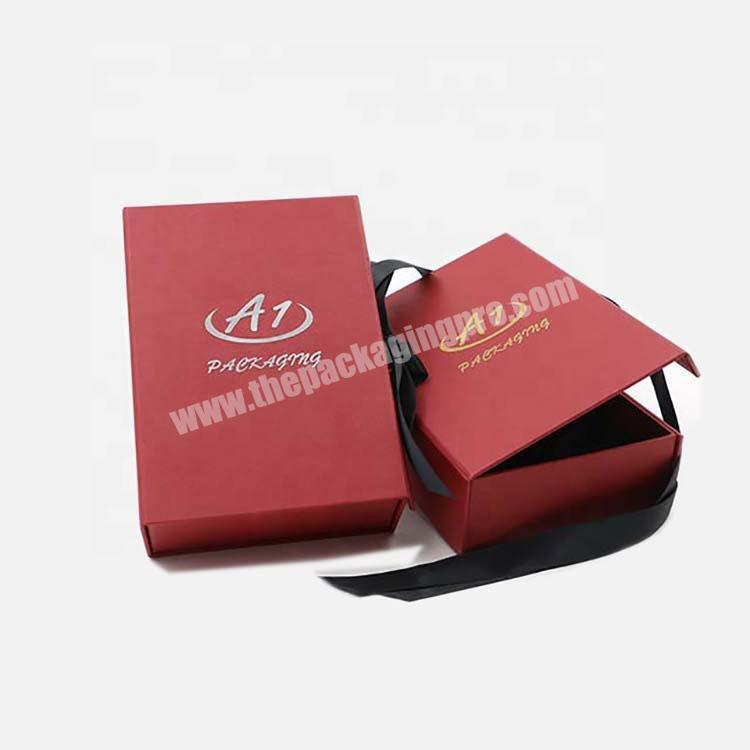 2020 50ml Custom Red  Perfume Gift Cosmetic Paper Box With Ribbon