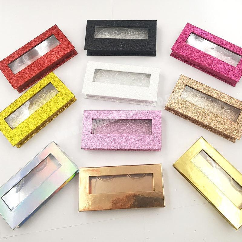 Manufacturer Colorful Blank DIY Lash Eyelash package box with Transparent Lid Tray