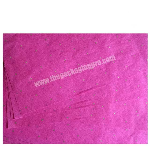 Custom 17gsm 22gsm silk paper custom color printing tissue wrapping paper for apparel packaging