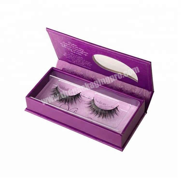 2020 New Arrival Paper Package Magnetic Box Eyelash With Plastic Tray
