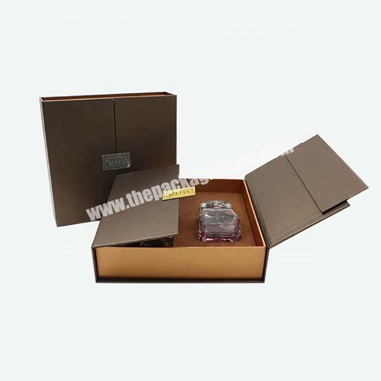 High Quality 2 door Open Handmade Cosmetic Product Gift Perfume Box