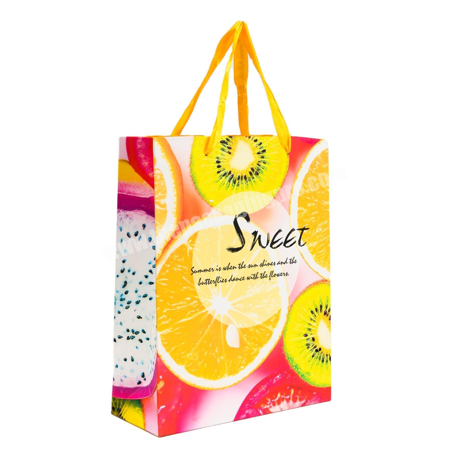 Custom luxury hand bags paper packaging kraft  wedding