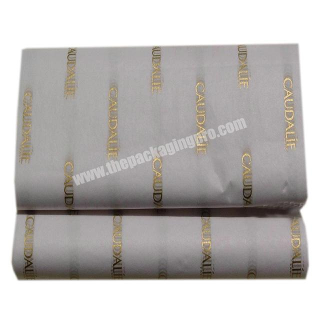 Shop 17gsm black tissue paper white LOGO printed clothing shoes wrapping paper leather packaging