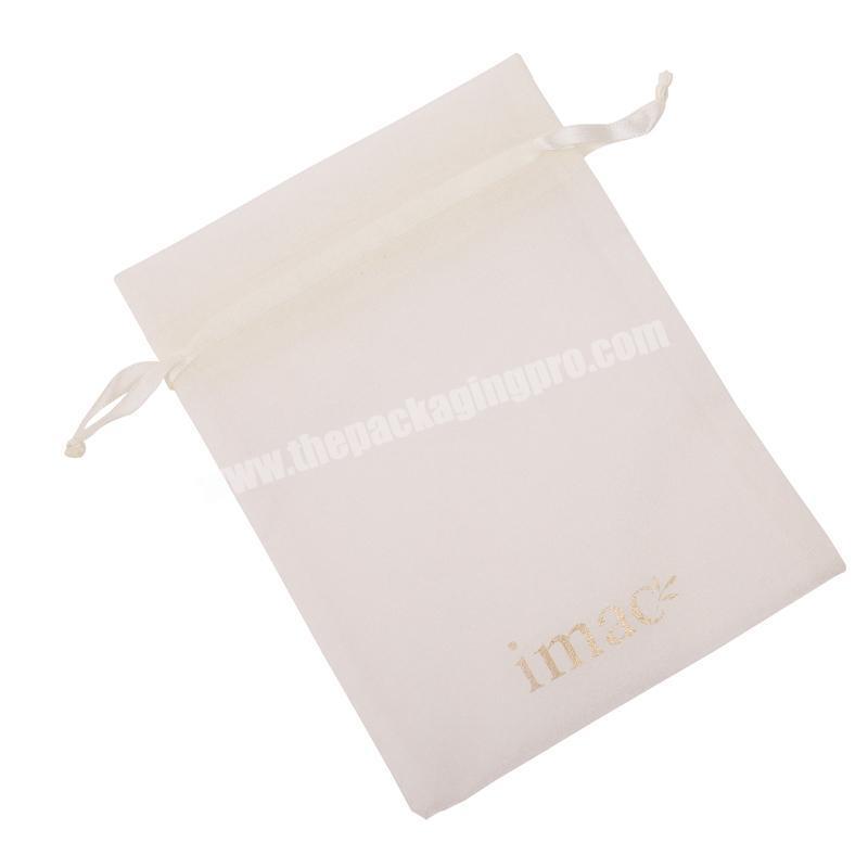Luxury drawstring velvet dust packaging bag with logo