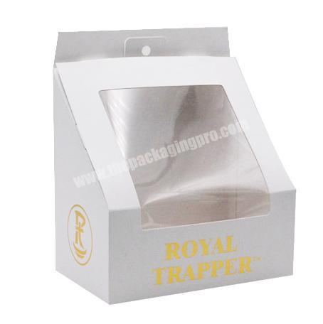 Wholesale Hot Sale Custom Logo Packaging Hat Paper Box With PVC Clear Window For Baseball Hat Packaging Gift Box
