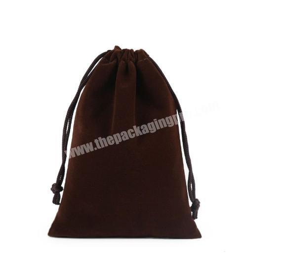 Shop Best-Selling Cheap Promotional Logo Printed Custom Velvet Bags Drawstring