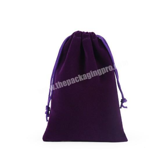 Manufacturer Small MOQ custom suede velvet gift drawstring pouch bags for promotional