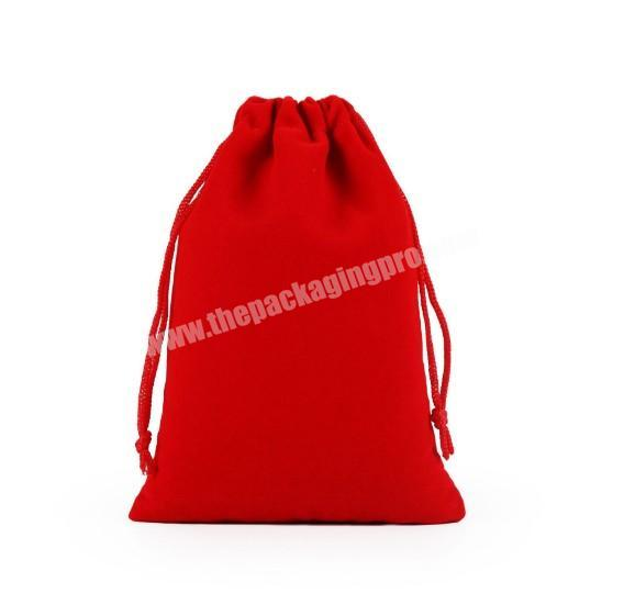 Cheap Red Large Velvet makeup Pouch Bag Packaging With Logo