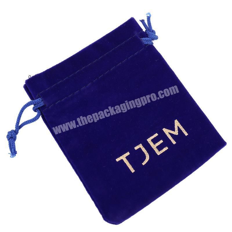 2018 Custom Made Blue Jewelry Drawstring Dust Bags Velvet For Hair