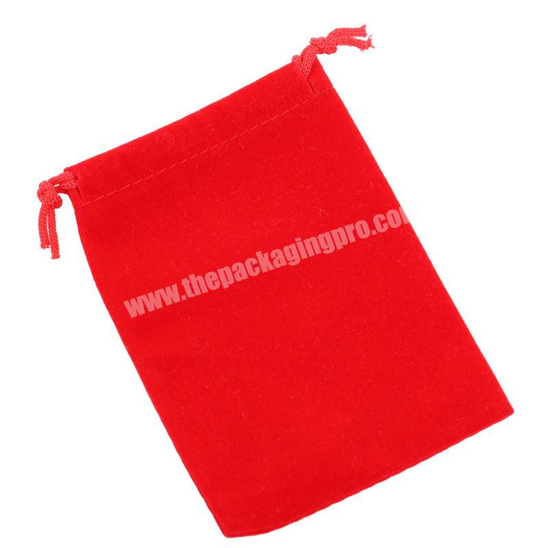 Red Fashion Hot Stamped Logo Velvet Jewelry Pouch