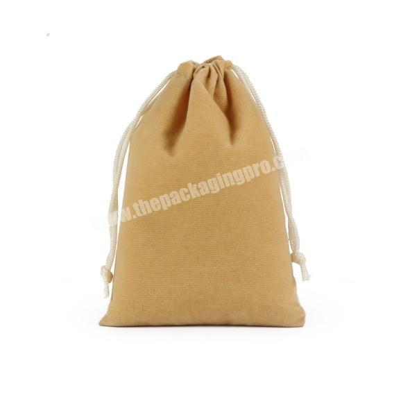 Shop Small MOQ custom suede velvet gift drawstring pouch bags for promotional