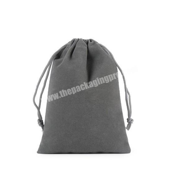 Supplier Custom logo printed velvet jewelry gift drawstring bag pouch