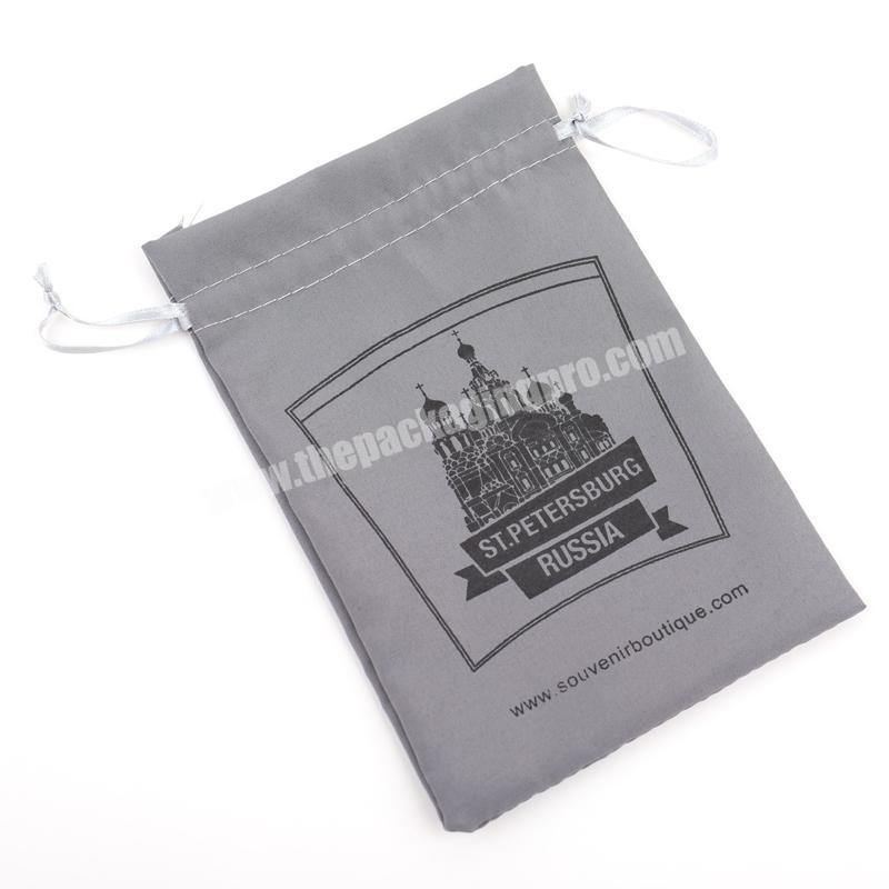 Factory 2018 fashionable plain dust drawstring jewelry bags velvet with logo